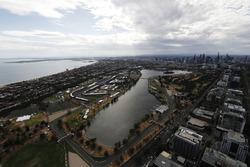 Una vista aérea del circuito Albert Park