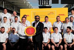 Mercedes AMG F1 are presented with the DHL Fastest Pit Stop Award