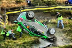 L'accident de Yazeed Al Rajhi, Michael Orr, Yazeed Racing Ford Fiesta RS WRC