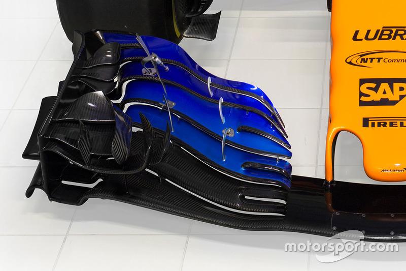 McLaren MCL33, detalles de alerón delantero