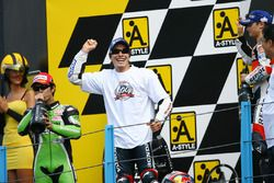 Podium: race winner Nicky Hayden