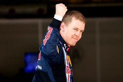 Sebastian Vettel, Red Bull Racing viert zijn pole-position