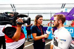 Sam Bird, DS Virgin Racing, parle aux médias