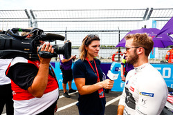 Sam Bird, DS Virgin Racing, talks to the press