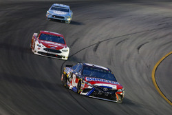 Kyle Busch, Joe Gibbs Racing, Toyota Camry Snickers Intense, Ryan Blaney, Team Penske, Ford Fusion DEX Imaging, and Kevin Harvick, Stewart-Haas Racing, Ford Fusion Busch Light