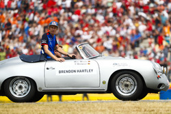 Brendon Hartley, Toro Rosso, tijdens de rijdersparade