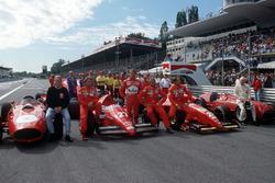 Monza, festeggiamenti per il 600° GP Ferrari 600, Phil Hill, Rene Arnoux, Luca Badoer, Michele Alboreto, Gerard Berger, John Surtees