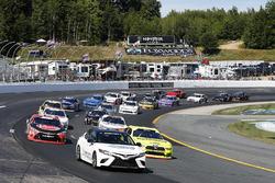 Toyota Camry Pace Car Christopher Bell, Joe Gibbs Racing, Toyota Camry Rheem Brad Keselowski, Team Penske, Ford Mustang Menards/Richmond