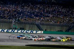 Kyle Busch, Joe Gibbs Racing, Toyota Camry NOS Energy Drink Cole Custer, Stewart-Haas Racing, Ford Mustang Haas Automation