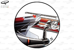 Haas F1 VF-17, t-wing
