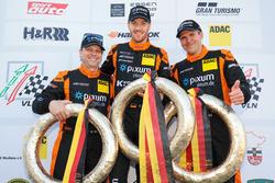 Podium: #444 Porsche Cayman: Norbert Fischer, Christian Konnerth, Daniel Zils