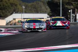 #54 Spirit of Race Ferrari 488 GTE: Thomas Flohr, Francesco Castellacci, Giancarlo Fisichella, #51 AF Corse Ferrari 488 GTE EVO: Alessandro Pier Guidi, James Calado