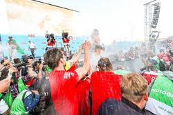 Jean-Eric Vergne, Techeetah, 3e, Lucas di Grassi, Audi Sport ABT Schaeffler, 2e, Daniel Abt, Audi Sport ABT Schaeffler, vainqueur du Berlin ePrix