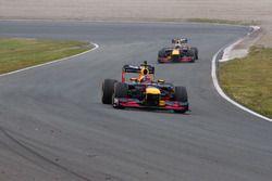 Max Verstappen et Daniel Ricciardo lors des Jumbo Racing Days
