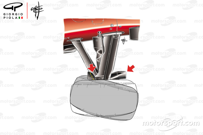 Sudut kemudi Ferrari F10, GP Monako 2010
