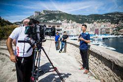 Alexander Albon, DAMS, is interviewed by FOM TV