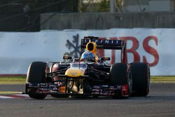 Race winner Sebastian Vettel, Red Bull Racing RB9