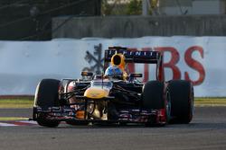 Le vainqueur Sebastian Vettel, Red Bull Racing RB9