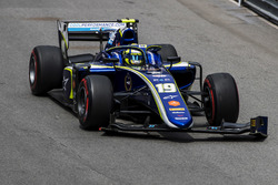 Lando Norris, Carlin, with a broken front wing
