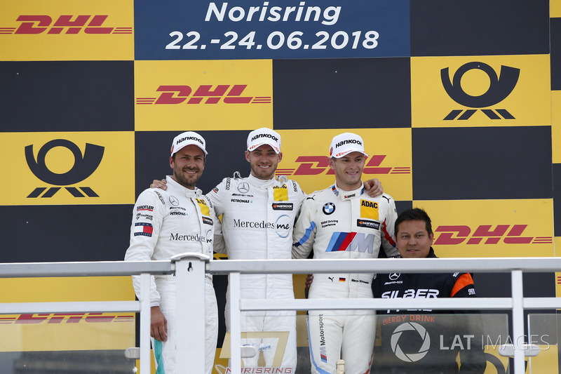 Podio: Edoardo Mortara, Mercedes-AMG Team HWA, second place Gary Paffett, Mercedes-AMG Team HWA, third place Marco Wittmann, BMW Team RMG