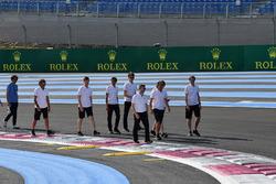Fernando Alonso, McLaren walks the track