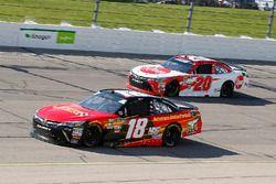 Riley Herbst, Joe Gibbs Racing, Toyota Camry Advance Auto Parts and Christopher Bell, Joe Gibbs Racing, Toyota Camry Rheem