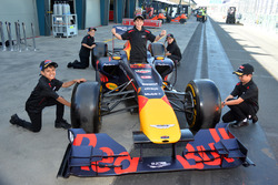 Grid kids and Red Bull Racing F1 car