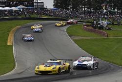 #3 Corvette Racing Chevrolet Corvette C7.R, GTLM: Antonio Garcia, Jan Magnussen, #24 BMW Team RLL BMW M8, GTLM: John Edwards, Jesse Krohn