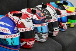 Toyota Gazoo Racing drivers helmets