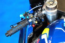 Alex Rins, Team Suzuki MotoGP, palanca de freno trasero accionada por el pulgar
