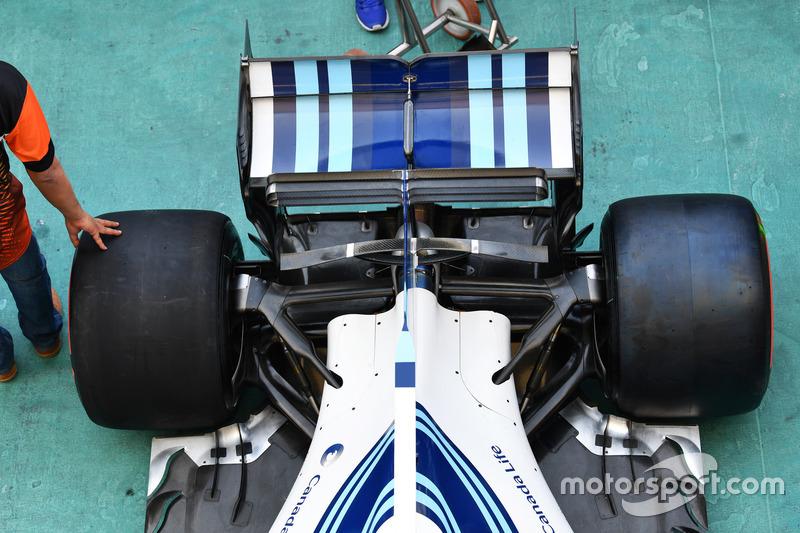 Williams FW40 arka süspansiyon ve arka kanat detay