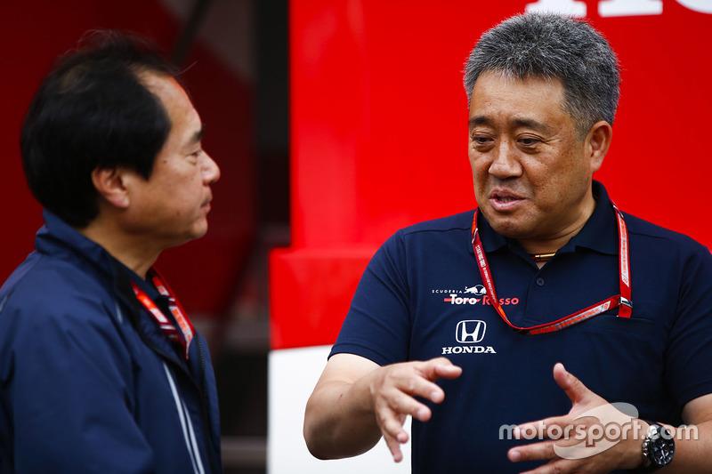 Toyoharu Tanabe, Direttore Tecnico F1, Honda, con Masashi Yamamoto, General Manager, Honda Motorsport