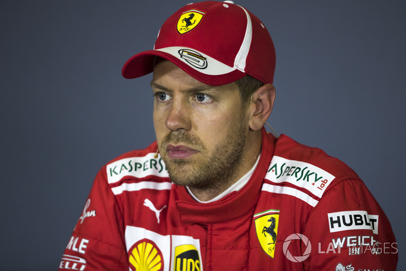 Sebastian Vettel, Ferrari in th Press Conference