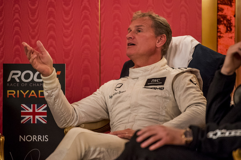 David Coulthard backstage