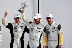 Victory lane, third place GTLM: #3 Corvette Racing Chevrolet Corvette C7.R: Antonio Garcia, Jan Magnussen, Mike Rockenfeller