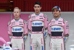 Nikita Mazepin, Sahara Force India F1, Esteban Ocon, Sahara Force India F1 et Sergio Perez, Sahara Force India