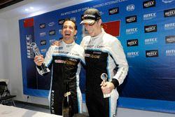 Podium: Race winner Nestor Girolami, Polestar Cyan Racing, Volvo S60 Polestar TC1, third place Thed