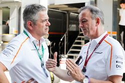 Gil de Ferran, Sporting Director, McLaren, with Jonathan Neale, Managing Director, McLaren