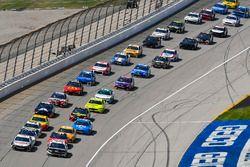 Kevin Harvick, Stewart-Haas Racing, Ford Fusion Jimmy John's Kickin' Ranch and Aric Almirola, Stewart-Haas Racing, Ford Fusion Smithfield