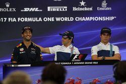 Daniel Ricciardo, Red Bull Racing, Felipe Massa, Williams and Lance Stroll, Williams in the Press Conference
