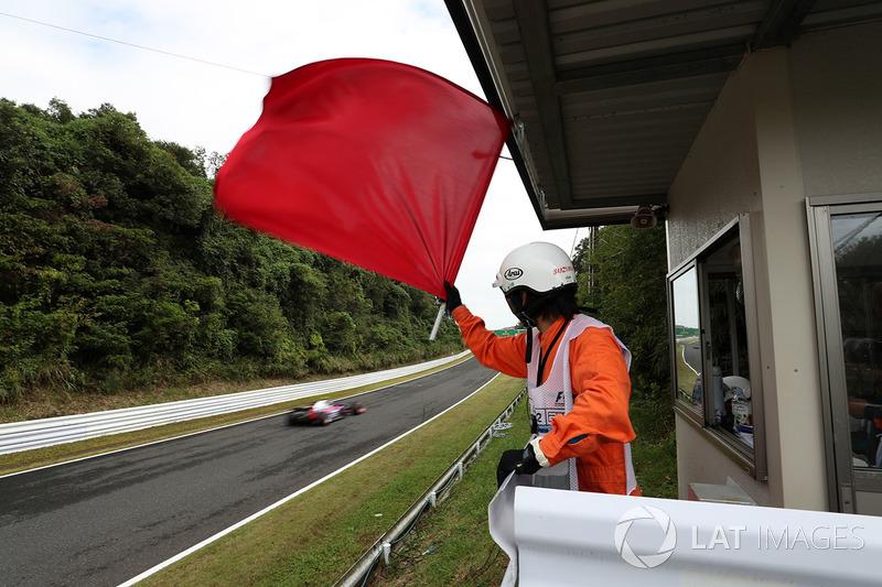 Procedimentos de relargada em corridas com bandeira vermelha