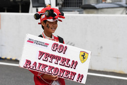 Ferrari fan and banner