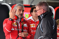 Maurizio Arrivabene, Ferrari Team Principal and Ross Brawn, Formula One Managing Director of Motorsports