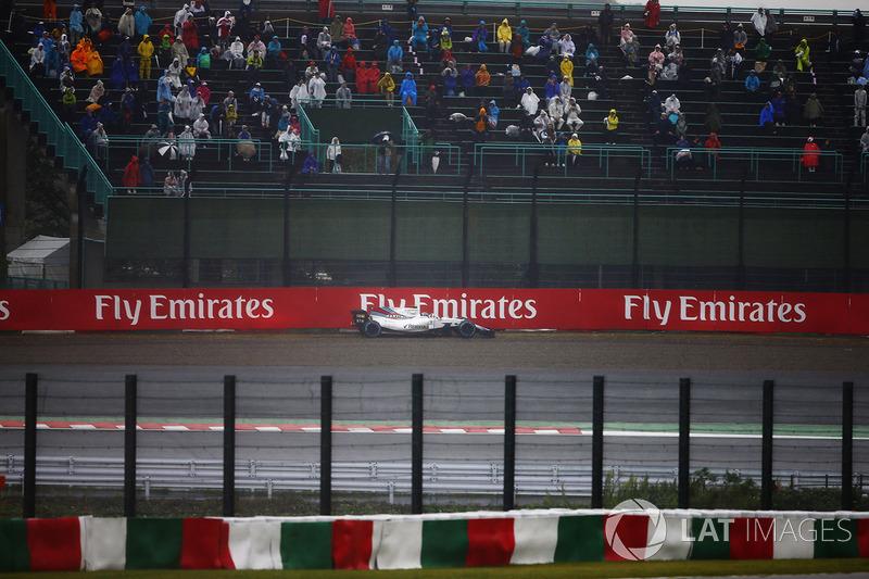 Lance Stroll, Williams FW40, va fuori dalla pista