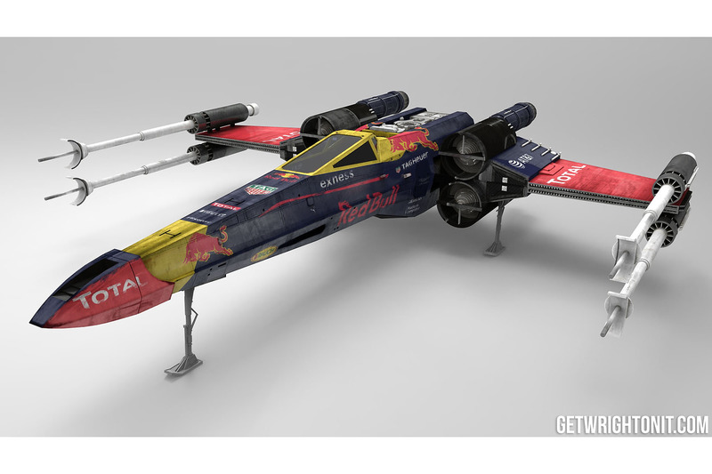 X-Wing in Red-Bull-design
