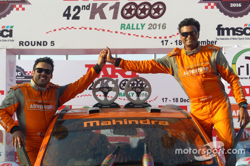 Amittrajit Ghosh, Ashwin Naik, Mahindra SUV 500 at Rally of