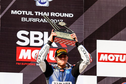 Podium: race winner Federico Caricasulo, GRT Yamaha Official WorldSSP Team