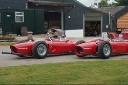 El Ferrari 156 f. 1 reconstruido fuera de la Setford&Company
