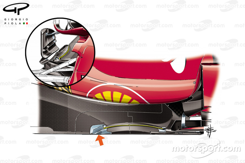 Ferrari SF70H cut in the floor