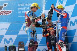 Podium: race winner Franco Morbidelli, Marc VDS, second place Mattia Pasini, Italtrans Racing Team,